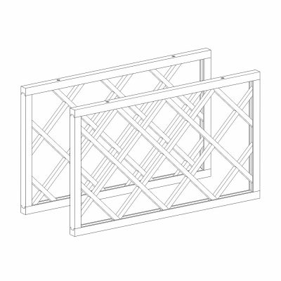 Mobilier lemn masiv - Grilaj sticle de vin (pereche) Venetia-5