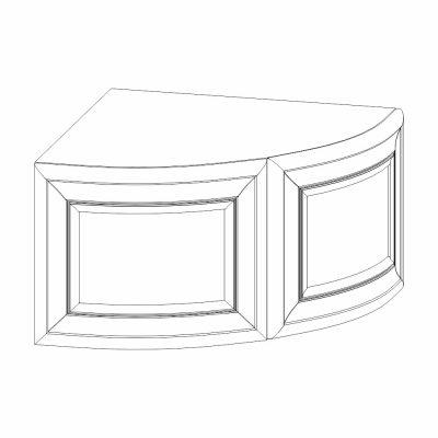 Mobilier lemn masiv - Ușă curbată colț Venetia-2