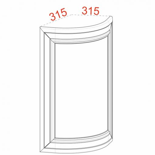 Mobilier lemn masiv - Ușă plină curbată Venetia-2