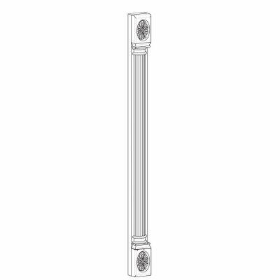 Mobilier lemn masiv - Pilastru Lira-2