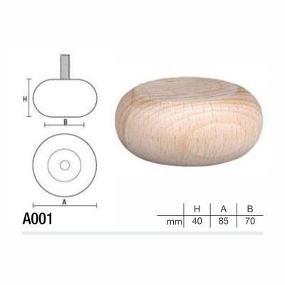 Mobilier lemn masiv - Picioare mobilier A001 Picioare mobilier