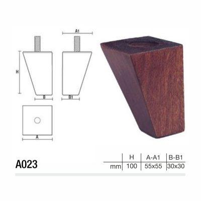 Mobilier lemn masiv - Picioare mobilier A023 Picioare mobilier