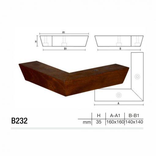 Mobilier lemn masiv - Picioare mobilier B232 Picioare mobilier