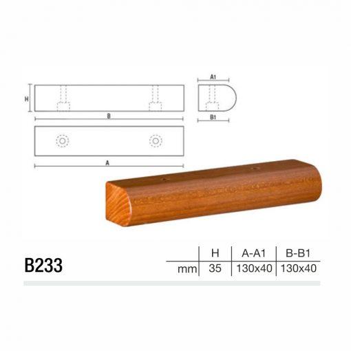Mobilier lemn masiv - Picioare mobilier B233 Picioare mobilier
