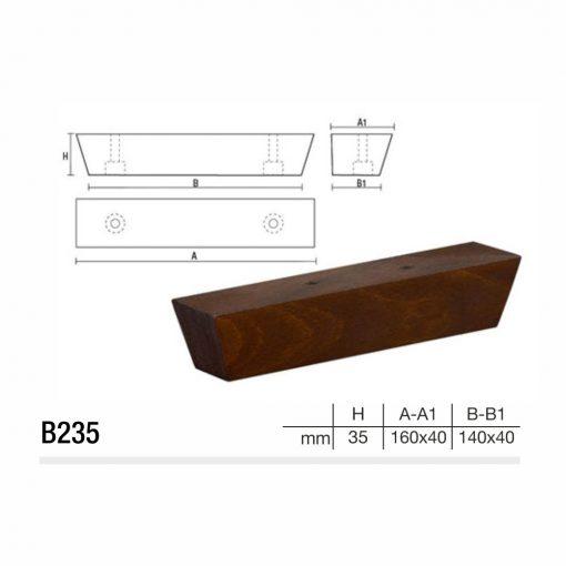 Mobilier lemn masiv - Picioare mobilier B235 Picioare mobilier