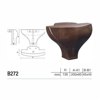 Mobilier lemn masiv - Picioare mobilier B272 Picioare mobilier
