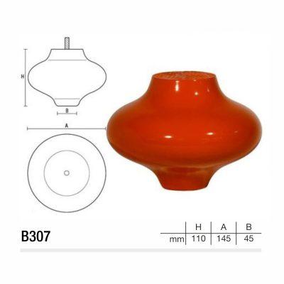 Mobilier lemn masiv - Picioare mobilier B307 Picioare mobilier