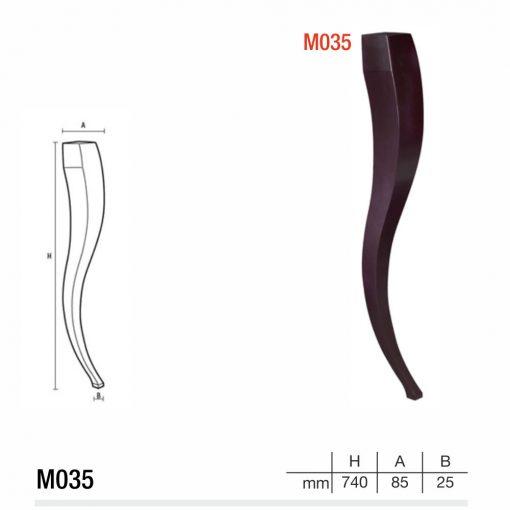 Mobilier lemn masiv - Picioare mobilier M035 Picioare mobilier