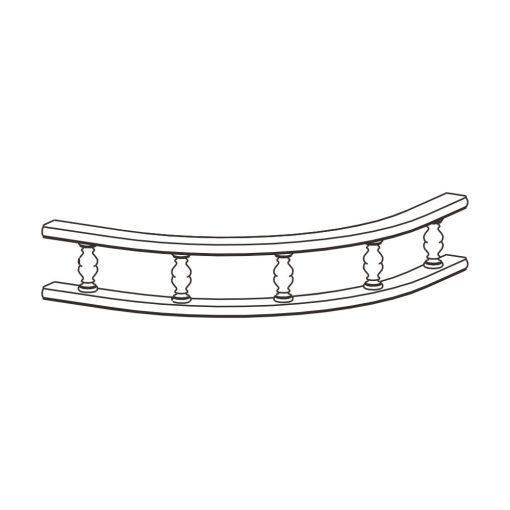 Mobilier lemn masiv - Ornament gard curbat Sorrento-3