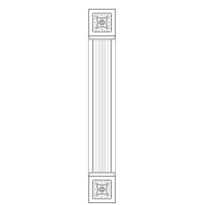 Mobilier lemn masiv - Pilastru 100mm Sorrento-4