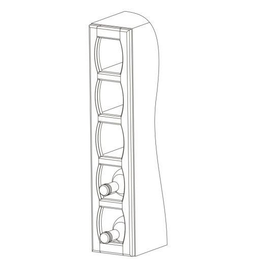 Mobilier lemn masiv - Ramă suport sticle de vin Sorrento-2