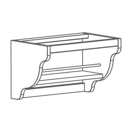 Mobilier lemn masiv - Suport folie Sorrento-5