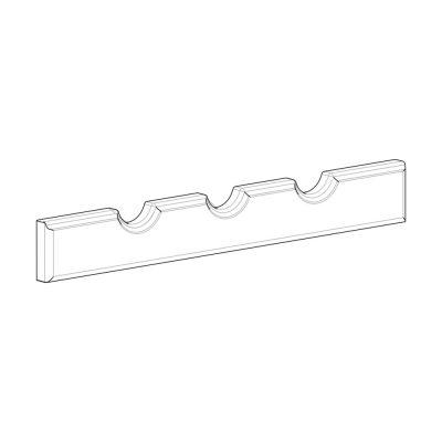 Mobilier lemn masiv - Suport sticle vin (liniar) Sorrento-5