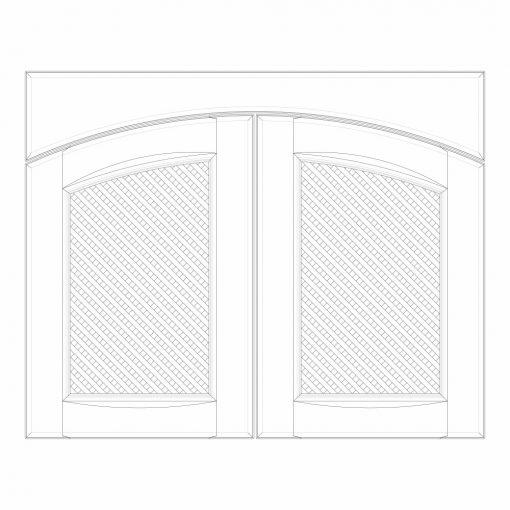 Mobilier lemn masiv - Ușă cu grilaj/friză (pereche) Sorrento-2