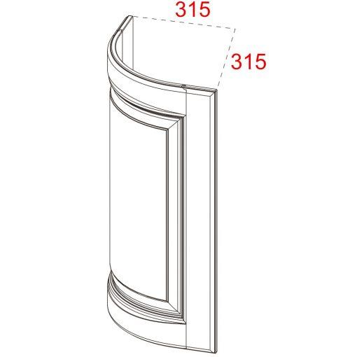 Mobilier lemn masiv - Ușă plină curbată Sorrento-2