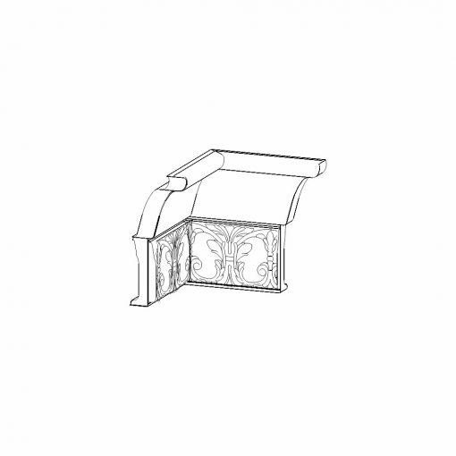 Mobilier lemn masiv - Decorație cornișă interior Rialto