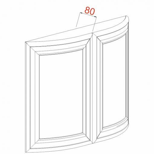 Mobilier lemn masiv - Ușă curbată pereche Rialto
