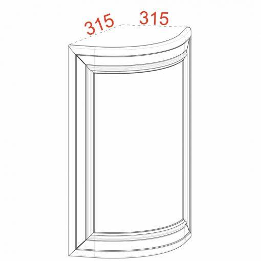 Mobilier lemn masiv - Ușă plină curbată Rialto